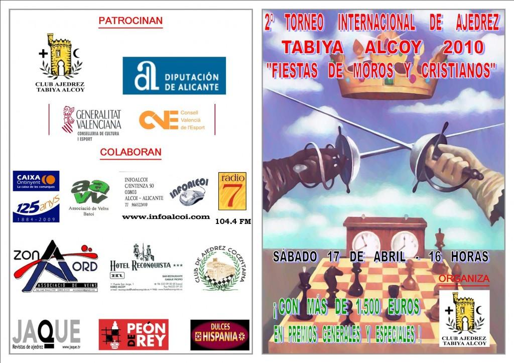 Folleto Torneo Internacional Tabiya Alcoy 2010 - exterior