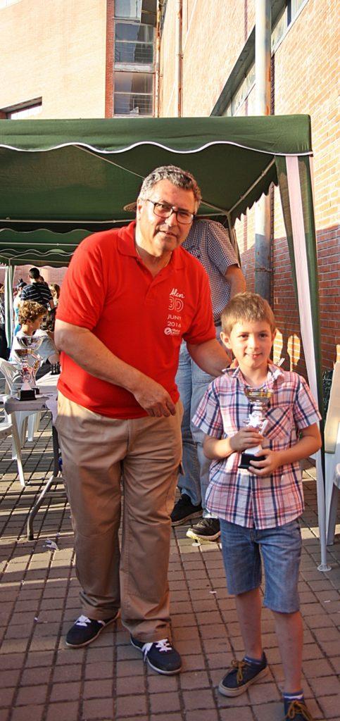 Subcampeón Sergi Sanchis – Categoría Benjamín